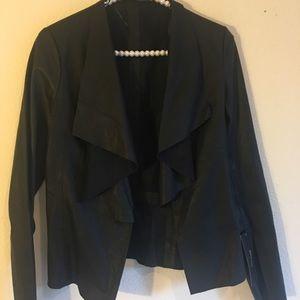 New Zara Black Faux Leather Jacket